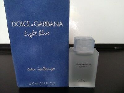 Blue Gabbana De Eau Femme Parfum Miniature Rare 4 Light Dolce Ml 5 Intense l1K3FcTJ