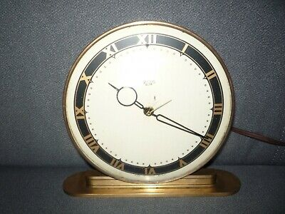 Vintage Smiths Sectric Electric Brass Mantel Clock Working