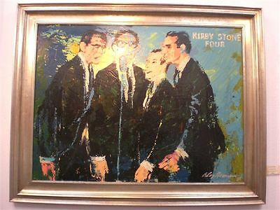 Leroy Neiman Kirby Stone Four 1965 Signed original painting Acrylic on Board