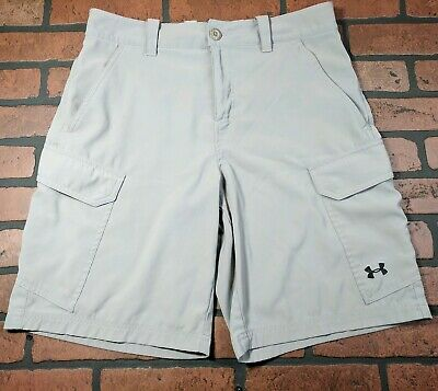 186fe7ff97 MENS UNDER ARMOUR HEATGEAR GRAY GOLFING HIKING FISHING CARGO Shorts Sz 32  *EUC*