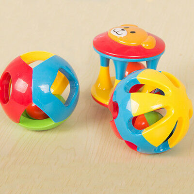 Baby Rattles Plastic Hand Shake Bell Early Learning Educational Toy For Kid Baby