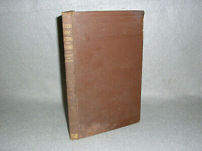 Antique Modern Stone-Cutting Masonry Book Illustrated Actual Fold-Out Plans 1896