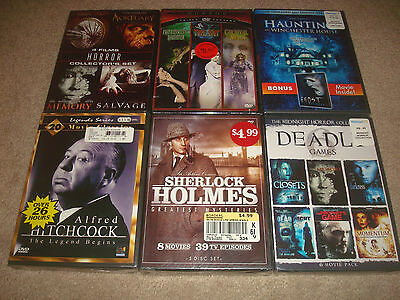 Horror DVD LOT Collector Hitchcock Deadly Games Pack Set Bat Midnight Collection