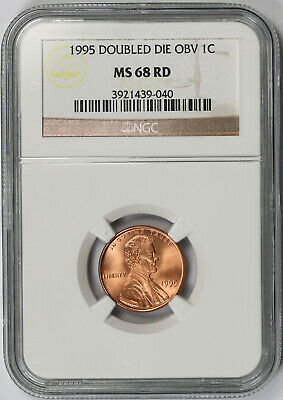 1995 Doubled Die Obverse Lincoln Memorial Penny 1C MS 68 RD Red NGC DDO