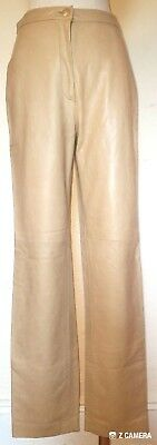 J Crew Tan Butter Soft Leather Pants Size 6 Retails $600 NWT