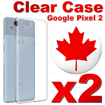 For Google Pixel 2 | Pixel 2 XL Case - Clear Thin Soft TPU Silicone Back Cover