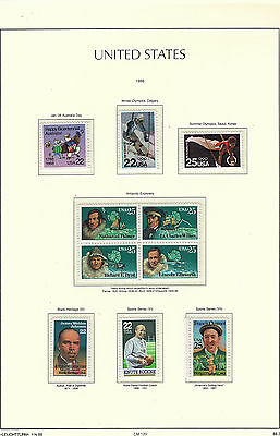U.S. 1988 Commemorative Year Set, 31 stamps (3 Scans) Complete, mNH Fine