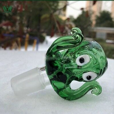 14mm / 18mm Green Octopus Glass Slide Bowl