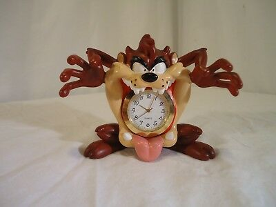 Looney Tunes Taz Mouth Mini Clock Figurine #13963