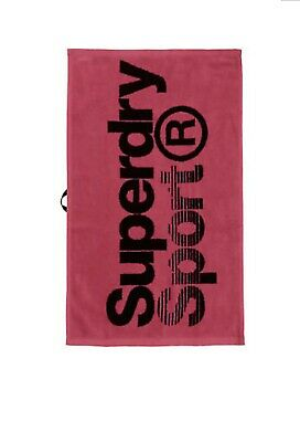 New Mens Small Superdry Hand Sport Towel Fluro Pink Flannel