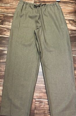 New COLDWATER CREEK Women's L Tan Brown Pull-On Linen Blend Ankle Pants $49