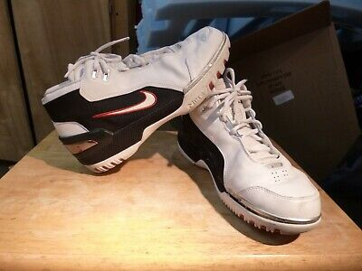 13ab047bb8ad 2003 LEBRON1 NIKE Air Zoom Generation White OG AZG Size 10 308214 ...