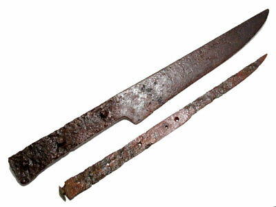 Lot Of Two Post Medieval Long Iron Knifes+++ Top Condition+++