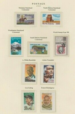 U.S. 1989 Commemorative Year Set, 34 stamps (4 Scans) COMPLETE, mNH Fine