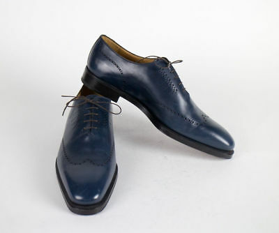 New SUTOR MANTELLASSI Brown Leather Penny Loafers Shoes Size 17 US $895