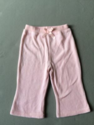 Girls baby pink jogging bottoms with bow 6-9 months