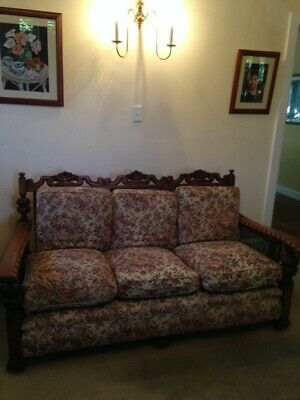 Jacobean 3 Piece Lounge Suite premium carving excellent condition