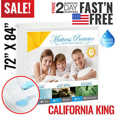 Mattress Cover Protector Waterproof California King Bed Cover Hypoallergenic