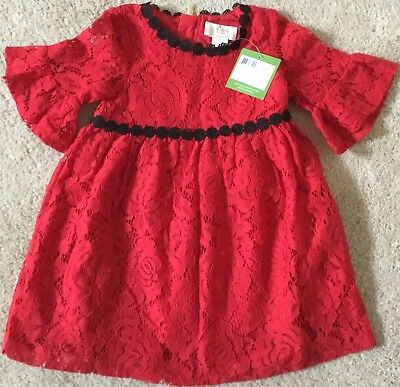 cd3a869ee NWT $68 Kate Spade Toddler Girls Red Lace Formal Party Dress Sz 3 NEW