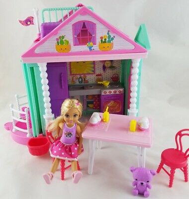 Barbie Club Chelsea Doll Clubhouse Playset House Furniture Accessories Food