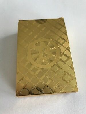 Bitcoin Gold Plated Poker Playing Cards - No Wallet - Not Casascius or Lealana