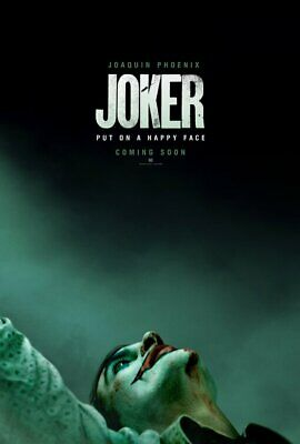 Joker 2019 ( OCTOBER 4 ON THE MIDDLE)  Original Double Sided Movie Poster 27x40