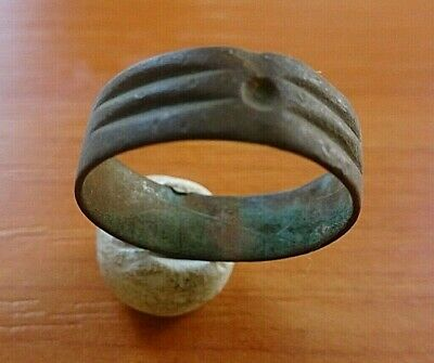 Ancient Celtic Bronze Wedding Ring Circa 100 AD - 300 AD Very Rare
