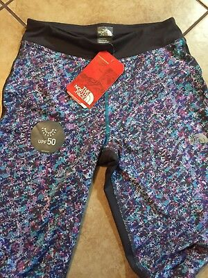Girls The North Face Pulse Leggings Size X-Large, Gray Pink Aqua - NWT