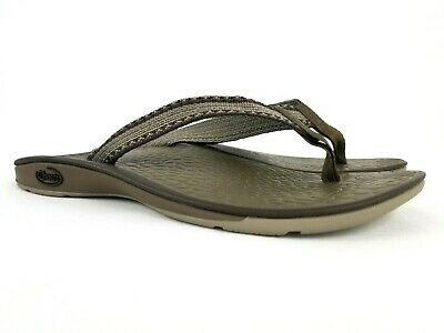 b28f71ee9dfa CHACO Ecotread Women s Brown Thong Flip Flop Sandals Size 6 (fits like ...