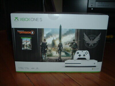 Microsoft Xbox One S 1Tb Console + The Division 2 Game + Live Gold 1 Month Trial