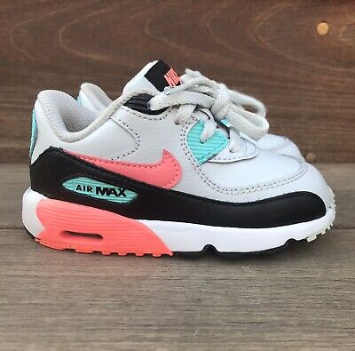 best loved ad934 61300 Nike Air Max 90 LTR Toddler Sz 7C Leather Casual Pure Platinum Lava Glow  Aurora