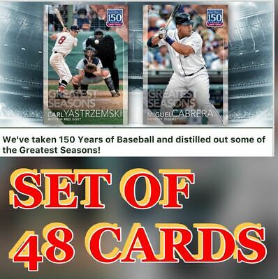 2019 150 YEARS OF BASEBALL SET OF 48 CARDS JUDGE/PUJOLS+ Topps Bunt Digital Card