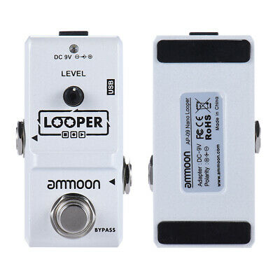 ammoon AP-09 Nano Series Loop Electric Guitar Effect Pedal True Bypass USB Q7N7