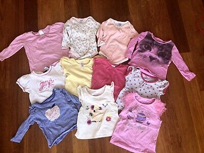 Baby Toddler Girl Bulk Bundle Clothes Tops Size 0 And 1