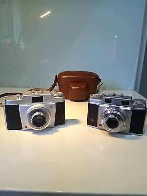 Collectable 2 x Vintage Agfa Super Silette & Silette 1950's Cameras 35 mm Case