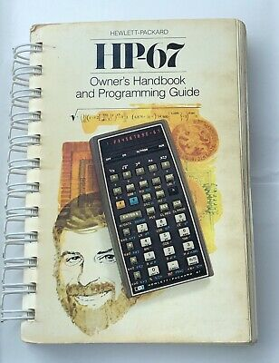 Vintage Owner's Manual for HP-67 Scientific Calculator