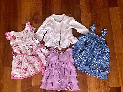 Baby Girls Clothing Dress Top Seed Origami Bardot H&M Bundle X 4 Items Size 0 1