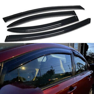 Topline For 2006-2011 Honda Civic Sedan Sun Rain Guard Vent Shade Window Visors