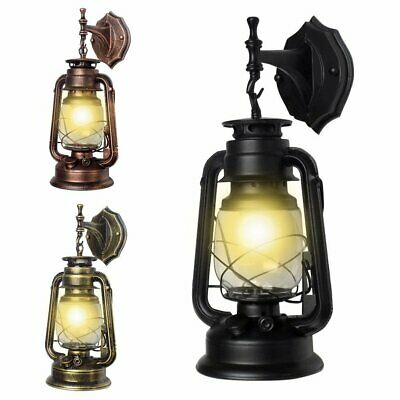 E27 Retro Antique Vintage Rustic Lantern Outdoor Lamp Wall Sconce Light Fixture~