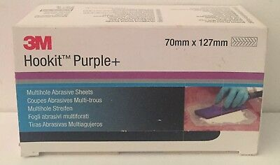 50 Coupes Abrasives 3M Hookit Purple+  Multi-Trous P120 70Mmx127Mm