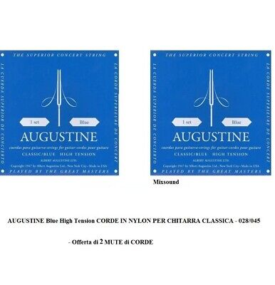 AUGUSTINE BLUE High Tension 2 SET MUTE CORDE NYLON PER CHITARRA CLASSICA