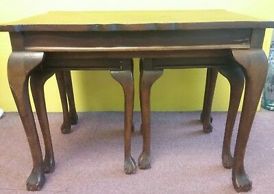 Victorian Nest of 3 Animal Foots   side Tables