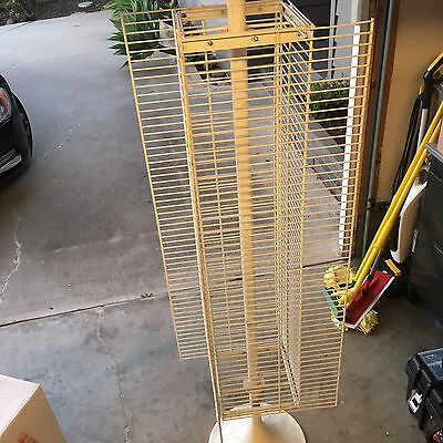 White Spinner Retail Display Rack with Hooks