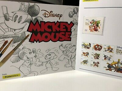 2018 Folder Topolino Mickey Mouse Fumetti da Colorare + Bollettino illustrativo