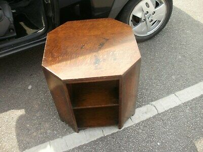 restoration due marks art/deco solid oak hexagon table /bookcase possible heals