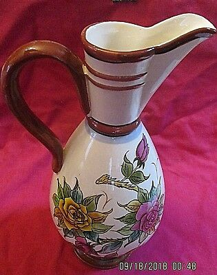 Beautiful Large Floral Water Jug - Drink / Kitchen