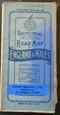 BARTHOLOMEW'S ROAD MAP Cheshire SOUTH YORKSHIRE Derbyshire Sheet 5 4ml to inch