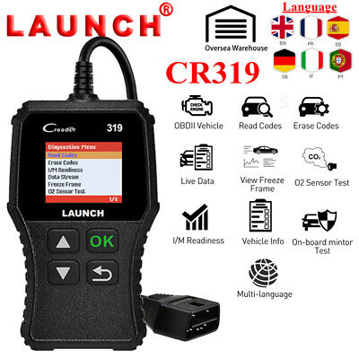 Code Reader Scan Tool OBD2 Car Diagnostic Scanner Launch X431 CR319 Fault Check