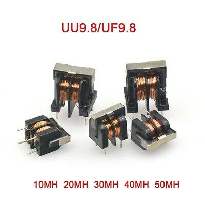 UU9.8/UF9.8 Common Mode Inductor Filter 10/20/30/40/50MH Inductance Choke