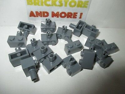 Lego Brick Brique 1x2 2x1 1 Pin 2458 Gray//Gris//Grau Choose Quantity